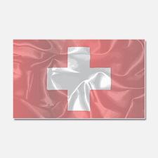 Unique Swiss flag Car Magnet 20 x 12