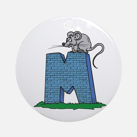 Kids Monogram M Ornament (Round)