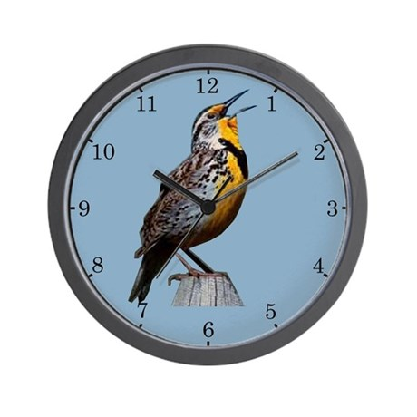 Western Meadowlark Wall Clock