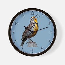 Western Meadowlark Wall Clock