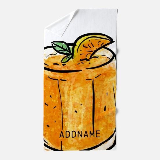 Summer Personalized Gift Orange Juice Beach Towel