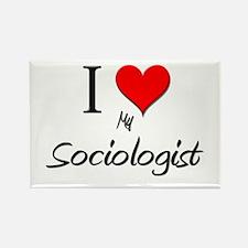 I Love My Sociologist Rectangle Magnet