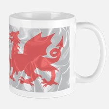Welsh Dragon Grunge Mugs