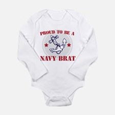Proud Navy Brat Body Suit