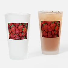 Fresh red strawberries Drinking Glass