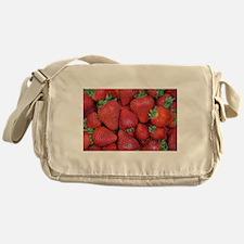 Fresh red strawberries Messenger Bag