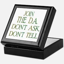 don't ask, don't tell Keepsake Box