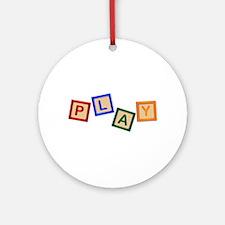 Play Blocks Round Ornament