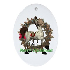 Tumbleween Horse Oval Ornament