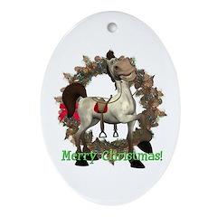 Tumbleween Horse Oval Ornament