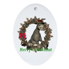 Donkey Oval Ornament