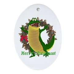 Chuck E. Steak Oval Ornament