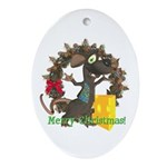 Rattachewie Oval Ornament