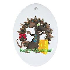 Rattachewie Oval Ornament