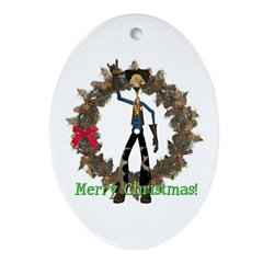 Hay Billy Oval Ornament