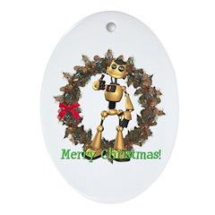 Chomper Oval Ornament