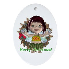 Blossom Oval Ornament