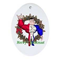 Alpha Man Oval Ornament