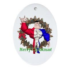 Alpha Man Oval Ornament