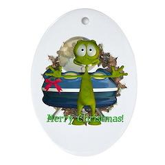 Al Alien Oval Ornament