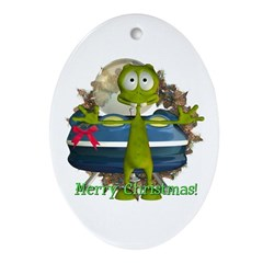 Al Alien Oval Ornament