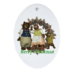 The Three Bears Oval Ornament