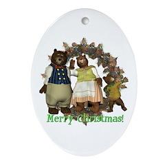 The Three Bears Oval Ornament