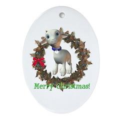 Lamb Oval Ornament