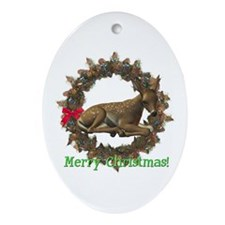 Fawn Oval Ornament