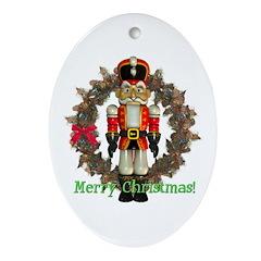 Nutcracker (Red) Oval Ornament