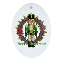 Nutcracker (Green) Oval Ornament