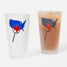 Unique Texas state outline Drinking Glass