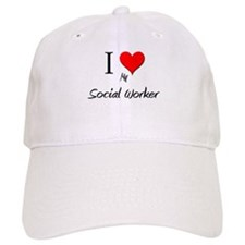 I Love My Social Worker Baseball Cap