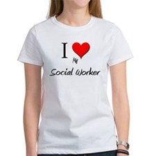 I Love My Social Worker Tee