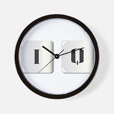 I Q Dice Wall Clock