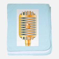 Golden Microphone baby blanket