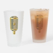 Golden Microphone Drinking Glass