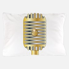 Golden Microphone Pillow Case