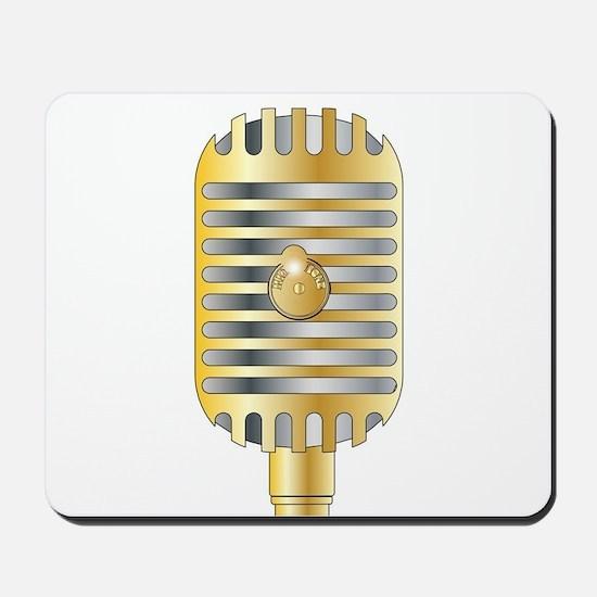 Golden Microphone Mousepad