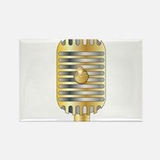 Golden Microphone Magnets