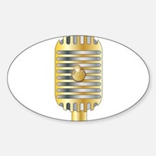 Golden Microphone Decal
