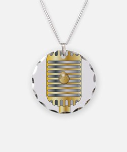 Golden Microphone Necklace