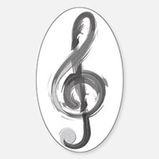 TREBLE CLEF Decal