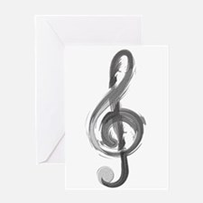TREBLE CLEF Greeting Cards