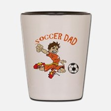 SOCCER DAD BRUNETTE ORANGE.png Shot Glass