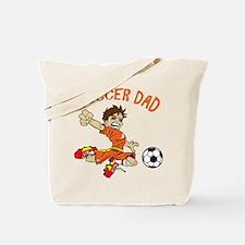 SOCCER DAD BRUNETTE ORANGE.png Tote Bag