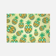 Pineapple Pastel Colors Pattern Magnets