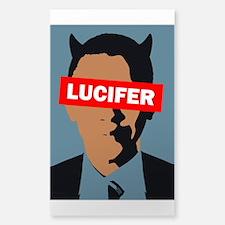 """Barack Obama """"Lucifer"""" Sticker (rectangl"""
