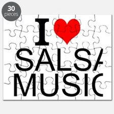 I Love Salsa Music Puzzle