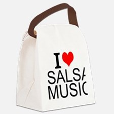 I Love Salsa Music Canvas Lunch Bag